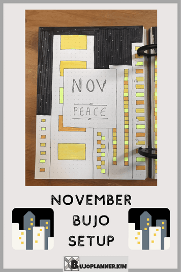 november plan with me bujo bullet journal setup monthly spreads