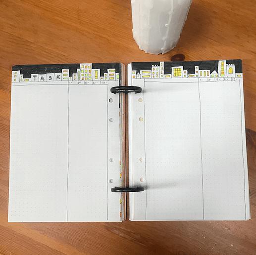 monthly bujo setup task to do list bullet journal spread idea