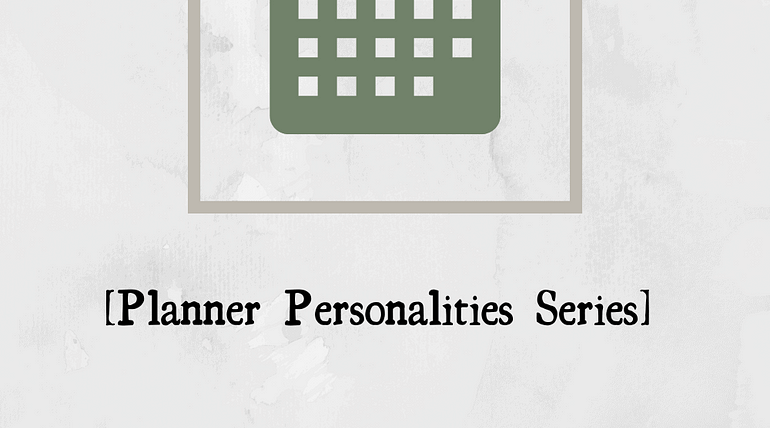 Picture of a green calendar and title saying June. The rest says planner personalities series the rational